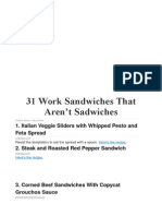31 Work Sandwiches That Aren.doc