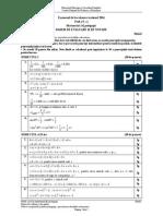 Barem de corectare model subiecte Matematică tip pedagogic Bac 2016