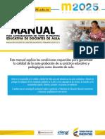 MANUAL EVALUACIÓN DOCENTE DE CARÁCTER DIAGNÓSTICO FORMATIVO