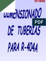 Tuberias R-404a