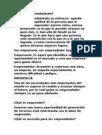 Que es emprendimiento- Juan David Gomez Arbelaez- 9°E
