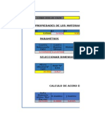 Calculo de Area de Acero Seccion Rectangular Norma 1753