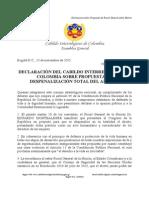 Declaración del Cabildo Interreligioso contra Despenalización del Aborto