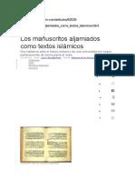 Artic Sobre Los Moriscos Webislam