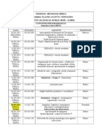 Cronograma Imunologia Médica 2015.2