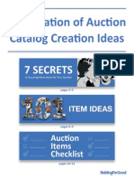 Compilation of Auction Catalog Creation Ideas