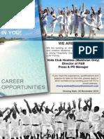 Internal Vacancy 13 November