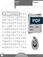 Halloween Word Search 9 Bw