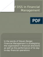 Uses of DSS in Financial Management