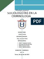 80691751 Modelos Sociologicos de la criminologia