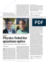 Physics Nobel for Quantum Optics