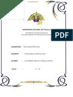 Informe de Peruana Natalidada, Mortalidad y Tasa de Crecimiento - Fiorela