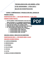 Trabajos de Investigacion Por Unidades Agronomia i
