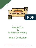 austin zoo intern curriculum