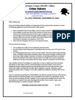 Crime Solvers Report 11-4 THRU 11-10-2015