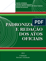 Padronização e Redação de Atos Oficiais Sc 2013