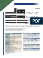 Yamaha RioSeries DataSheet En