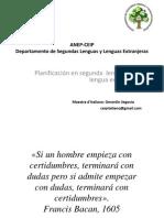Planificación en Lenguas