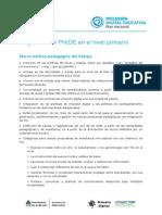 La gestión del PNIDE en el nivel primario.