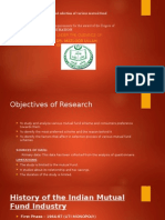 Dissertation of mutual fund