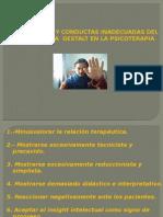 Tema 2- Conductas Inadecuadas Del Terapeuta Gestalt