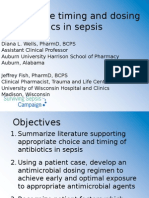 Appropriate Timing and Dosing of Antibiotics in Sepsis