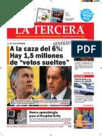 Diario La Tercera 13.11.2015