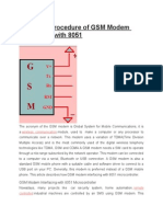 Know the Procedure of GSM Modem Interfacing With 8051