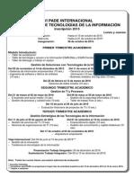 Calendario PADE Internacional en Gerencia de TI