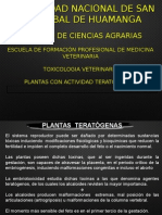 toxicologia plantas teratogenicas