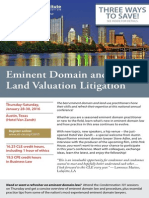 33d Annual ALI-CLE Eminent Domain and Land Valuation Litigation Conference, Jan. 28-30, 2016, Austin, TX
