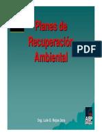 L.- Planes de Recuperación Ambiental