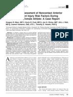 Longitudinal Assessment of Noncontact Anterior
