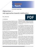 Afghanistan New Approaches Towards Stabilisation Report
