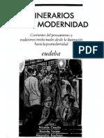 Casullo Nicolas Y Forster Ricardo - Itinerarios de La Modernidad