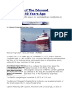 The Wreck of the Edmund Fitzgerald 40 Years Ago