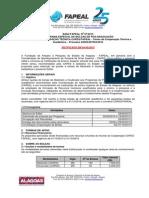 Edital Bolsas de Mestrado e Doutorado.2015 Retificado