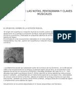 Origen de Las Notas, Pentagrama y Claves Musicales