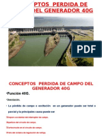 Conceptos Perdida de Campo Del Generador 40g