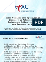 Guias Clinicas Para Optimizar El Ingreso y La Adherencia Al Tratamiento Antirretroviral-FINAL-May2012