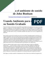 Sonido John Bonham