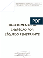 Procedimento de Líquido Penetrante