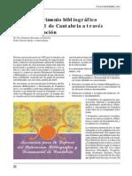 El Patrimonio Bibliografico y Documental de Cantabria a Través de Una Asociacion