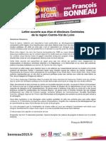 Régionales 2015_Lettre Ouverte de François Bonneau Aux Elus Et Electeurs Centristes Région Centre-Val de Loire 13nov2015