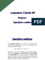 Superficies Cuadricas CALCULO 3