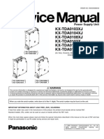 Service Manual Power Supply Unit Panasonic KX-TDA0104X