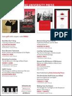 Duke University Press program ad for the Organization for American Historians conference 2016