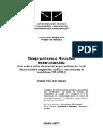 CAPA - Telejornal e Relações Internacionais