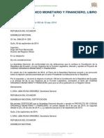 Codigo Monetario y Financiero RO