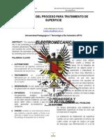 SECUENCIA DEL PROCESO PARA TRATAMIENTO DE SUPERFICIE